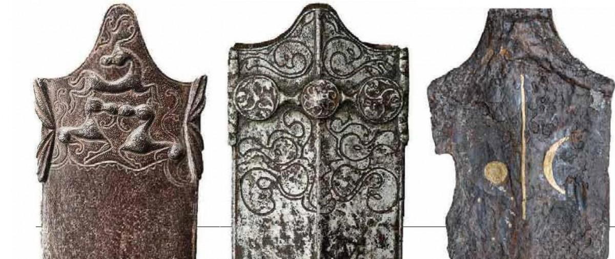 Art Celte, fourreaux et épée en fer, incrustation or